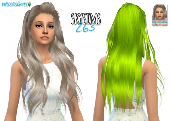 Nessa sims: 2000 Followers Gift hairstyles retextured for Sims 4