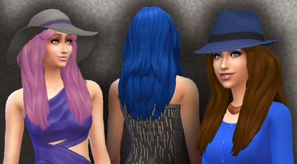 Mystufforigin: Long Messy Hairstyle for Sims 4