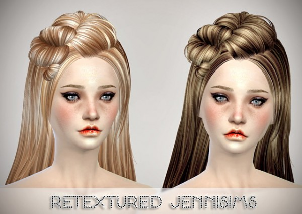 Jenni Sims: Butterflysims 078 hairstyle retextured for Sims 4