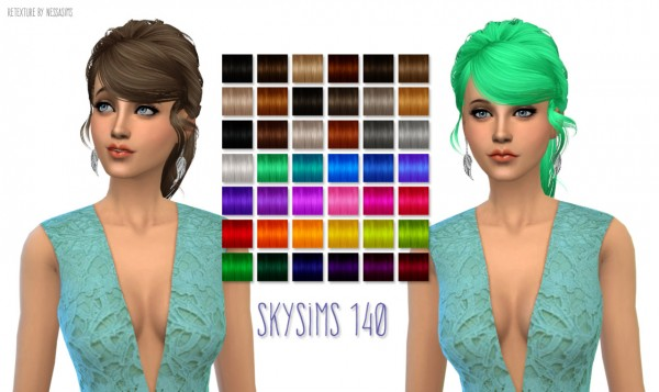 Nessa sims: Hair Dump #3 for Sims 4