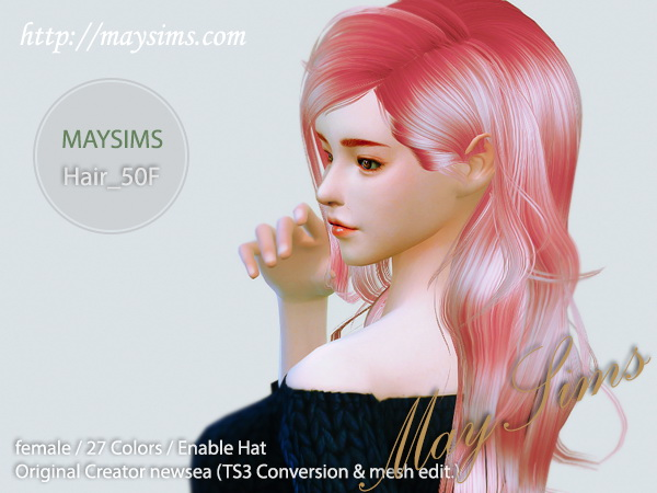 MAY Sims: May Hairstyle 50F retextured for Sims 4