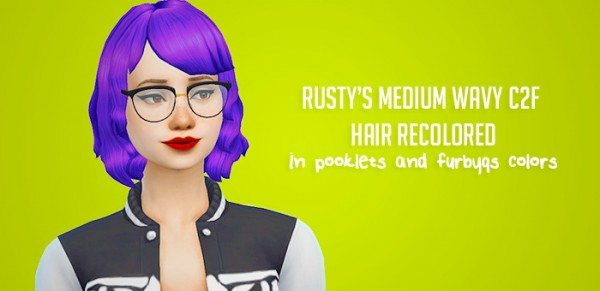 Liahxsimblr: Rusty Medium Wavy Hairstyle Recolors for Sims 4