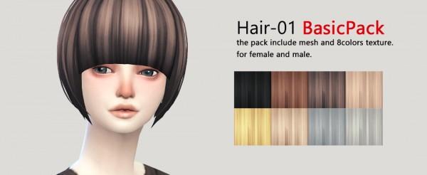 Imadako S4: Hairstyle 01 set for Sims 4
