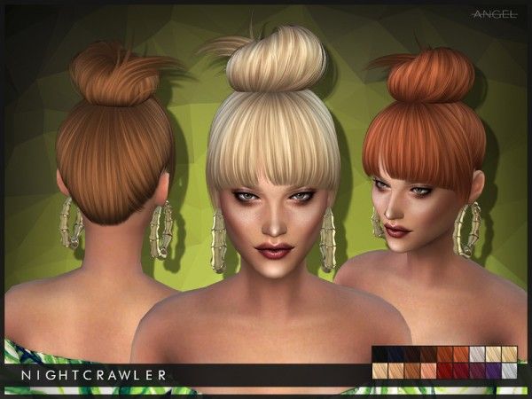 The Sims Resource: No Angel hairstyle by Nightcrawler for Sims 4