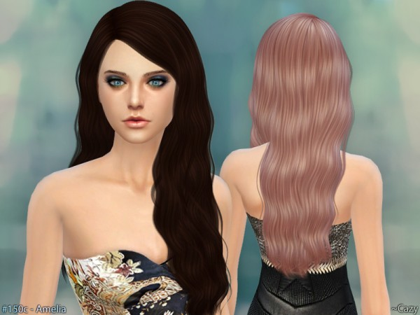 The Sims Resource: Amelia Hairstyle by Cazy for Sims 4