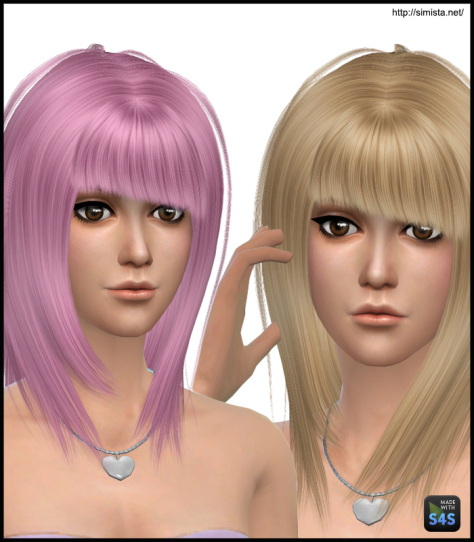 Simista: May Hair 53F Retextured for Sims 4