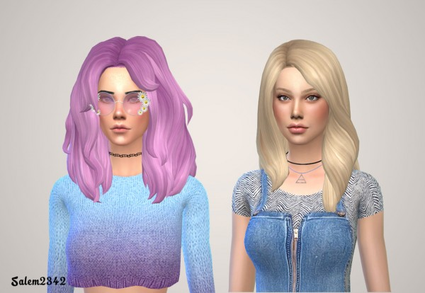 Salem2342: Voluminous Hairstyle Retextured for Sims 4