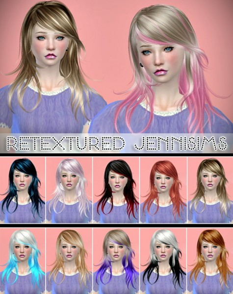 Jenni Sims: Newsea`s Flying dance hairstyle retextured for Sims 4