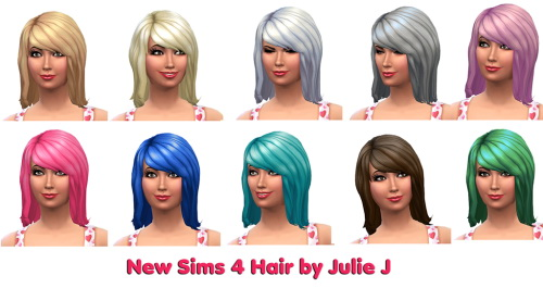 Julietoon: New Hair for the Sims 4 by Julie J for Sims 4