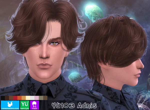 NewSea: YU103 Adnis hairstyle for Sims 4
