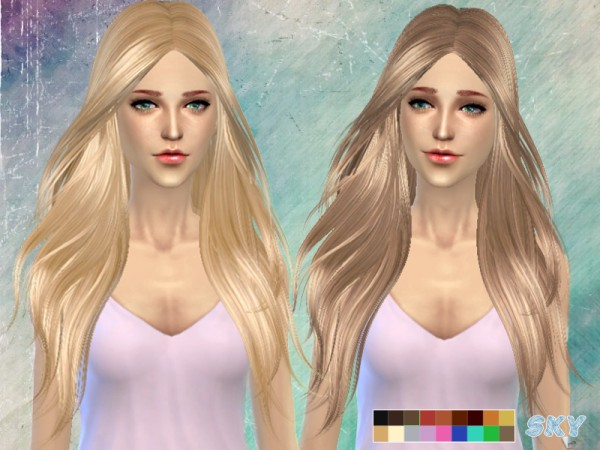 The Sims Resource: Hairstyle 194 by Skysims for Sims 4