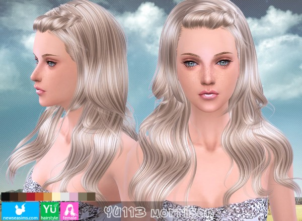 NewSea: YU133 Morrison hairstyle for Sims 4