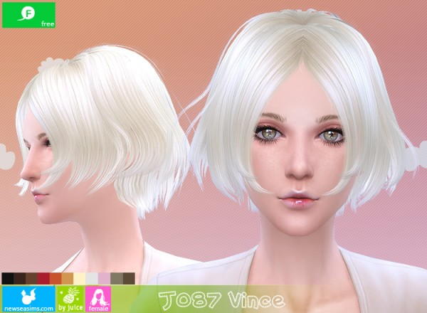 NewSea: J085 Vince chopped hairstyle for Sims 4