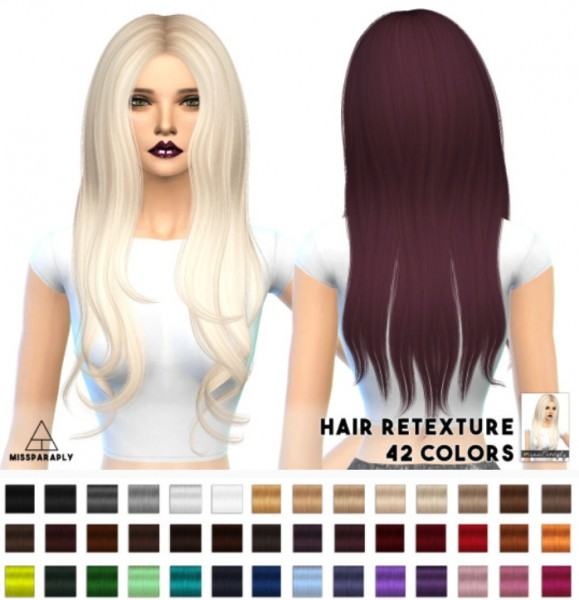 Miss Paraply: Alesso 60′s hairstyle retextured for Sims 4