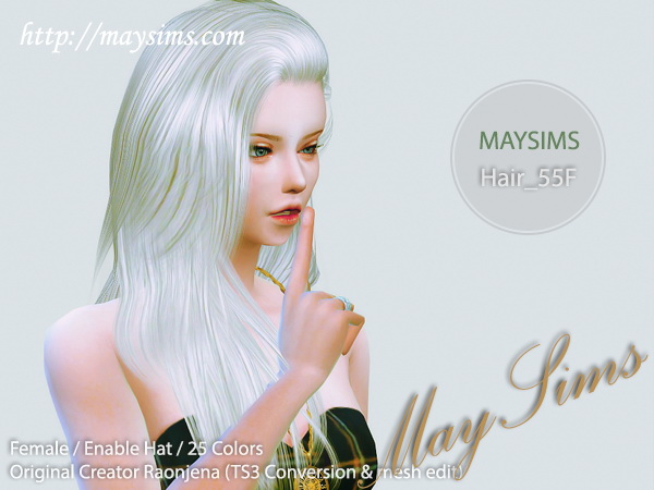 MAY Sims: May Hairstyle 55F for Sims 4