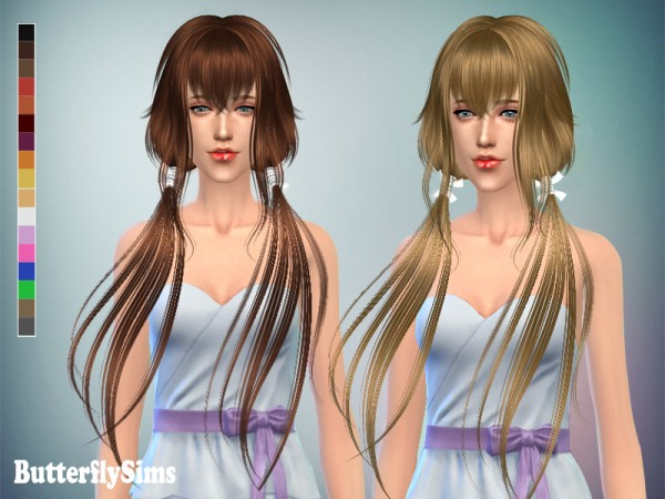 Butterflysims: Anime hairstyle 053 for Sims 4