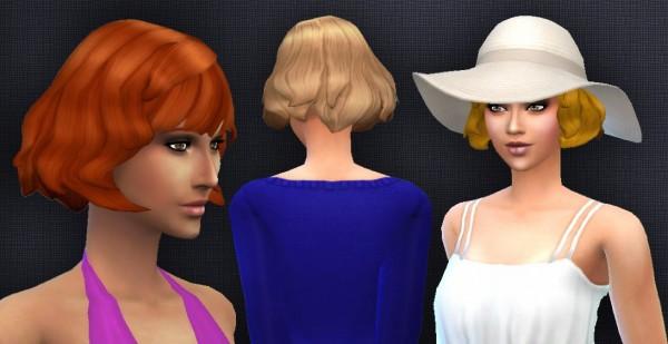 Mystufforigin: Short Wavy Bangs for Sims 4
