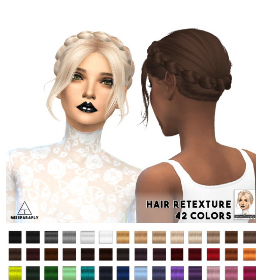 Miss Paraply: Alesso Slowly hairstyle retextured for Sims 4