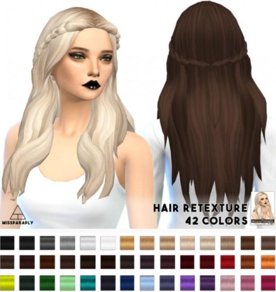 Miss Paraply: Kiara24 Sensitive hairstyle retextured for Sims 4