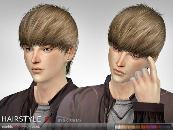 The Sims Resource: Haistyle 01 by S Club for Sims 4