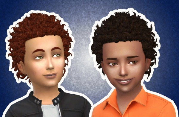 Mystufforigin: Close Curls for Boys for Sims 4