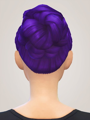 Liahxsimblr: Sweetheart Bun hairstyle retextured for Sims 4