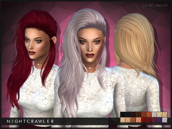 The Sims Resource: Hairstyle 23 by Nightcrawler for Sims 4