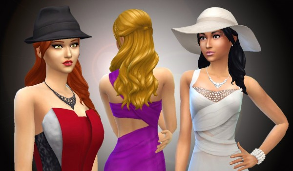 Mystufforigin: Long Wavy Without Bangs for Sims 4