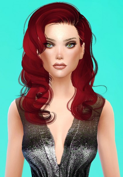 Artemis Sims: Newsea Dream Glory hairstyle converted for Sims 4