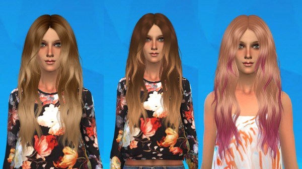 Ardatndr: Alesso`s Glow Hairstyle Conversion for Sims 4