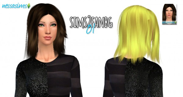 Nessa sims: Hair Dump #4 for Sims 4