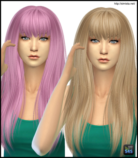 Simista: Alesso`s Heartbeat hairstyle retextured for Sims 4