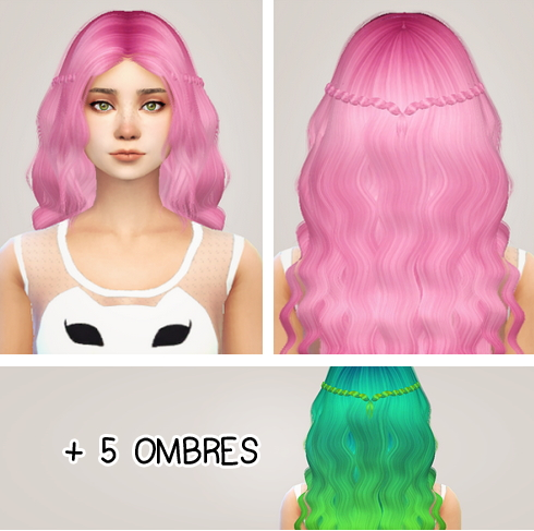 Sims 4 Hairs Liahxsimblr Alessos Ombre Hairstyle Retextured