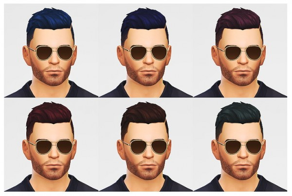 Lumia Lover Sims: Combed over slicked hairstyle for Sims 4