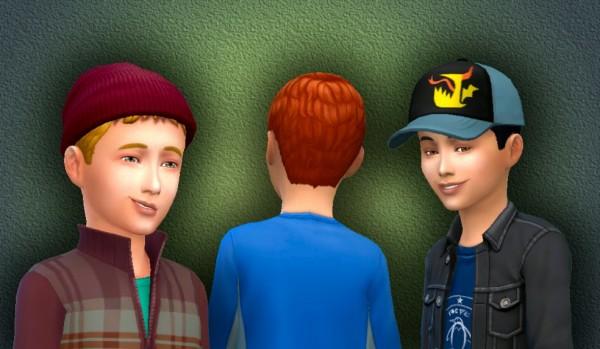 Mystufforigin: Short Ceasar for Boys for Sims 4