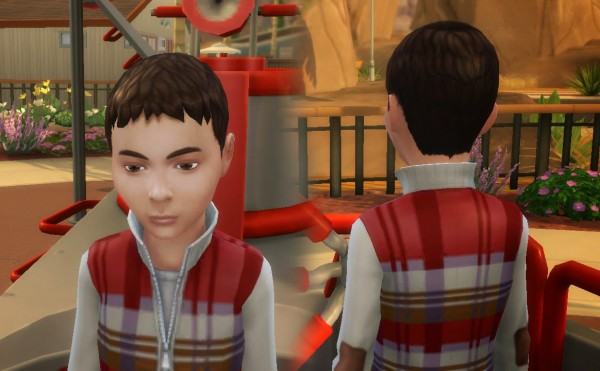 Mystufforigin: Short Ceasar for Boys for Sims 4
