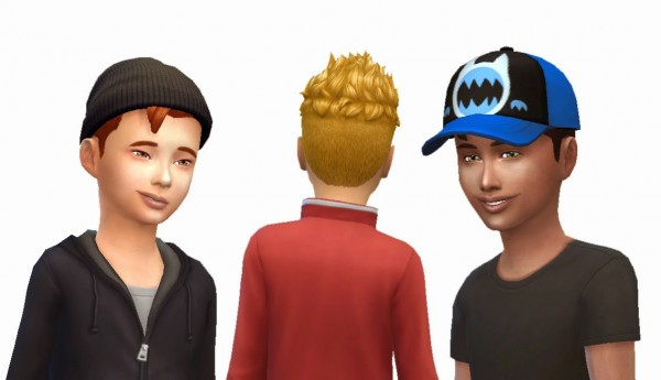 Mystufforigin: Pompadour Spiky hairstyle for Sims 4
