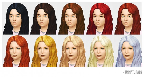 Lumia Lover Sims: Wavy Shmavy hairstyle retextured for Sims 4
