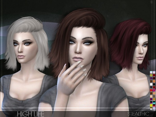 Stealthic: High Life hairstyle for Sims 4