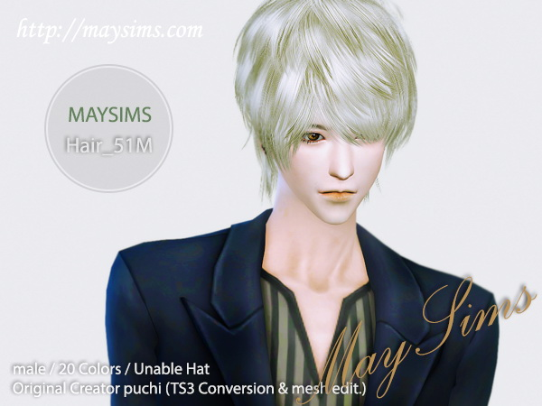 select a Website   : May Hairstyle 51M for Sims 4
