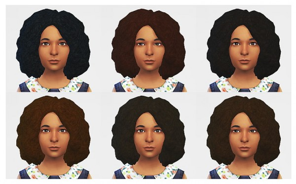 Lumia Lover Sims: Medium afro hairstyle for Sims 4