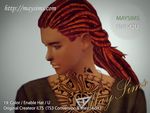 MAY Sims: May Hairstyle 42U for Sims 4