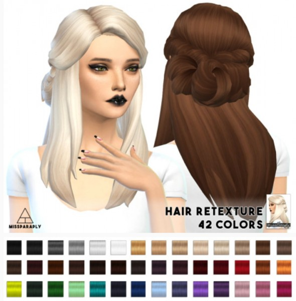 Miss Paraply: Lumia Lover Sims Sawyer hairstyle retextured for Sims 4