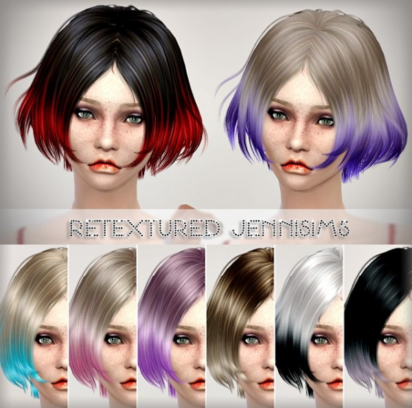 Jenni Sims: Newsea`s Vince hairstyle retextured for Sims 4