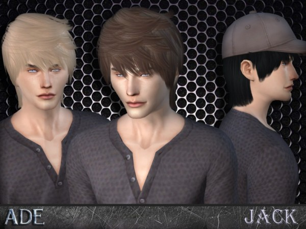 The Sims Resource: Jack hairstyle by Ade Darma for Sims 4