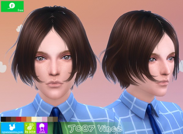 NewSea: J087 Vince hairstle for Sims 4