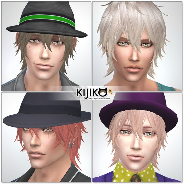 Kijiko Sims: Night Fog TS4 edition hairstyle for Sims 4
