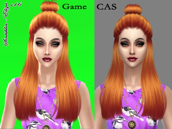 The Sims Resource: Hairstyle 16 Eliza by Sintiklia for Sims 4