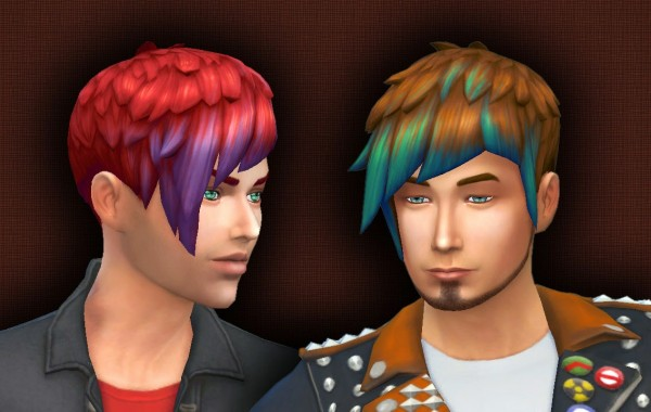 select a Website   : Med Straight Edge Asym hairstyle conversion for Sims 4
