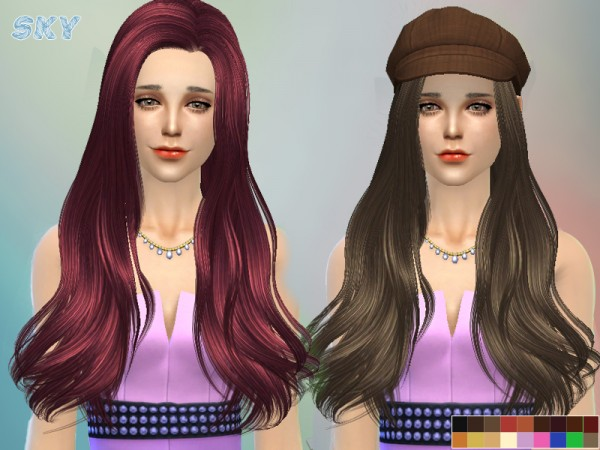 The Sims Resource: Hairstyle 237 by Skysims for Sims 4